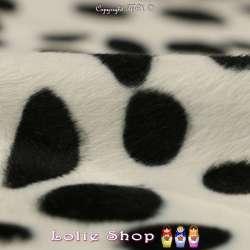 Fourrure Synthétique Ras Motif Dalmatiens