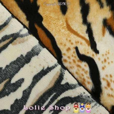 Fourrure Synthétique Ras Motif Tigre