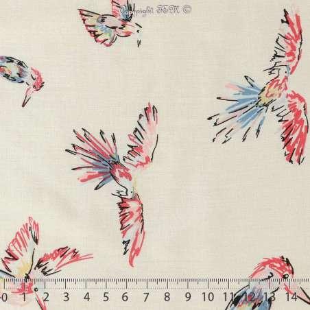 Fibranne Viscose Oiseaux 3 mètres 10€