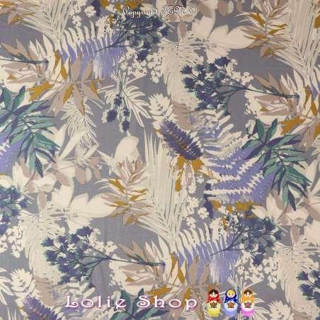 Magnifique Crêpe Polyester Imprimé Floral coupon de 3 mètre à 10€