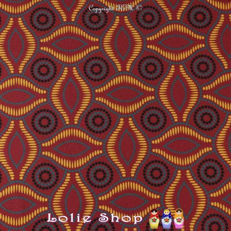 Coupon 3 mètres à 10€ Scuba Crêpe Imprimé Réf 57.25A motif  wax africain