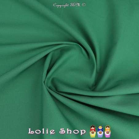 Popeline de Coton Couleur Vert Brésil