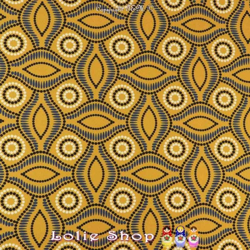 Coupon 3 mètres à 10€ Scuba Crêpe Imprimé Réf 57.25B motif  wax africain
