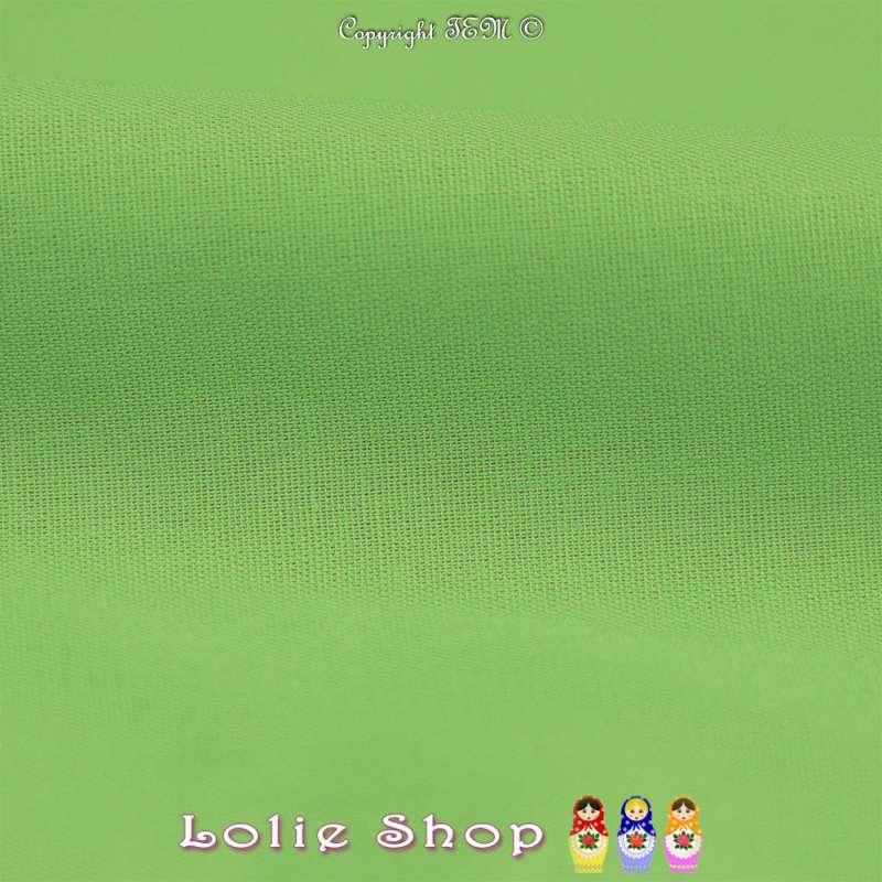 Popeline de Coton Couleur Vert Anis