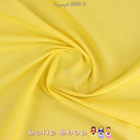 Popeline de Coton Couleur Jaune