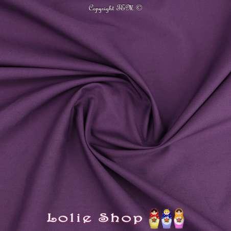 Popeline de Coton Couleur Violet