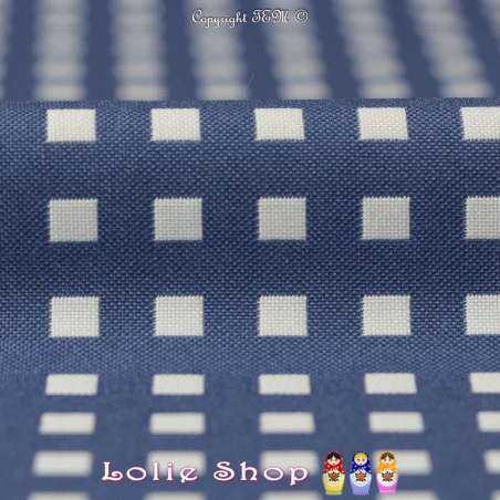 Coupon Jacquard 3 mètres à 10€ Réf 57.35B - Carré Ton Bleu