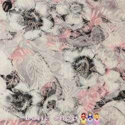 Coupon de 3 mètres à 10€  Brocart Broché Coton Imprimé Fleurs