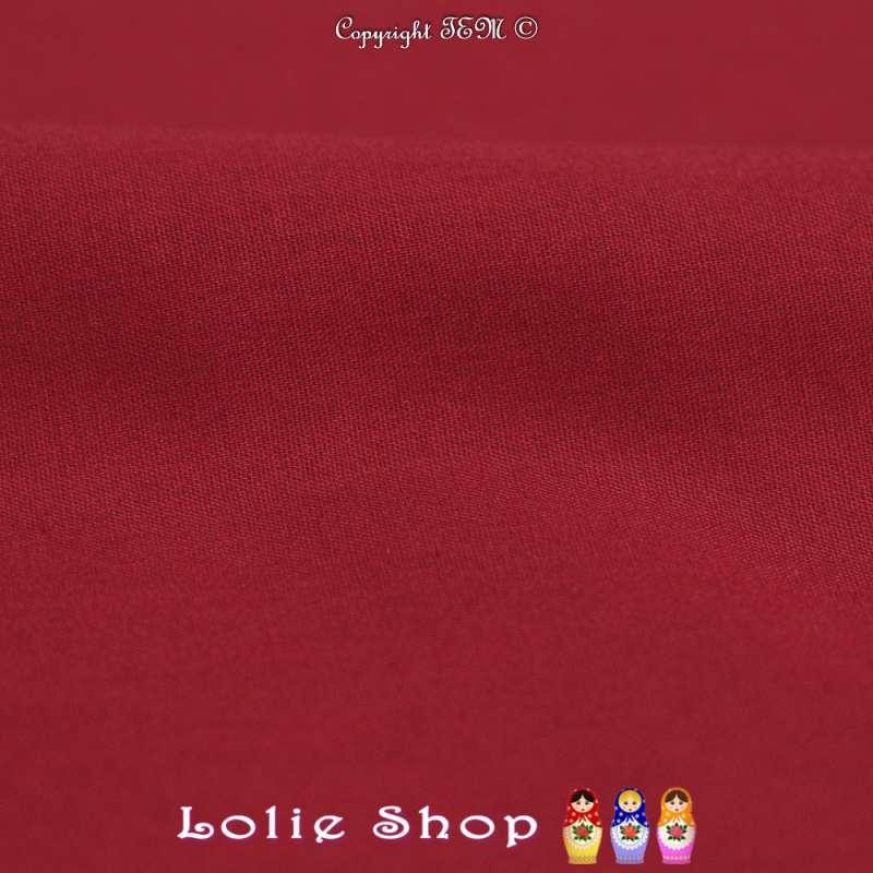 Popeline de Coton Couleur Bordeaux