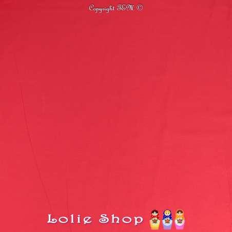 Popeline de Coton Couleur Rouge