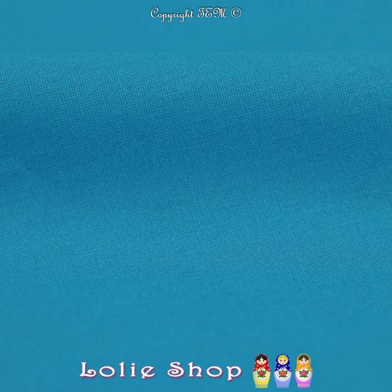 Popeline de Coton Couleur Bleu