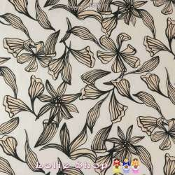 Tissu Coton Imprimé Fleurs de BALI