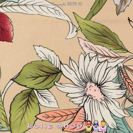 Coupon 3 mètres à 10€ Satin de Coton Imprimé Floral