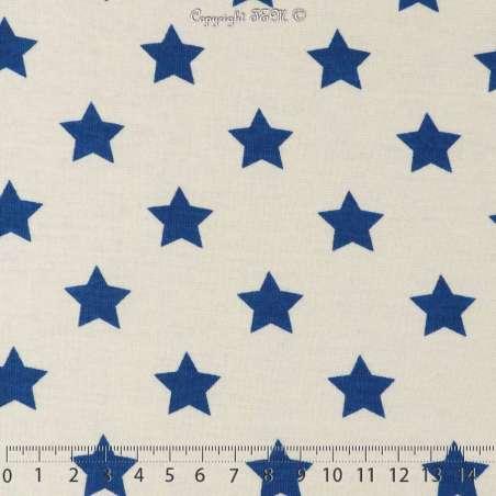 Jersey Coton Bateau Imprimé Étoiles Bleu