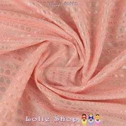 Coupon Dentelle Contrecollé Bordures Festonnées Réf 57.50B - Rose