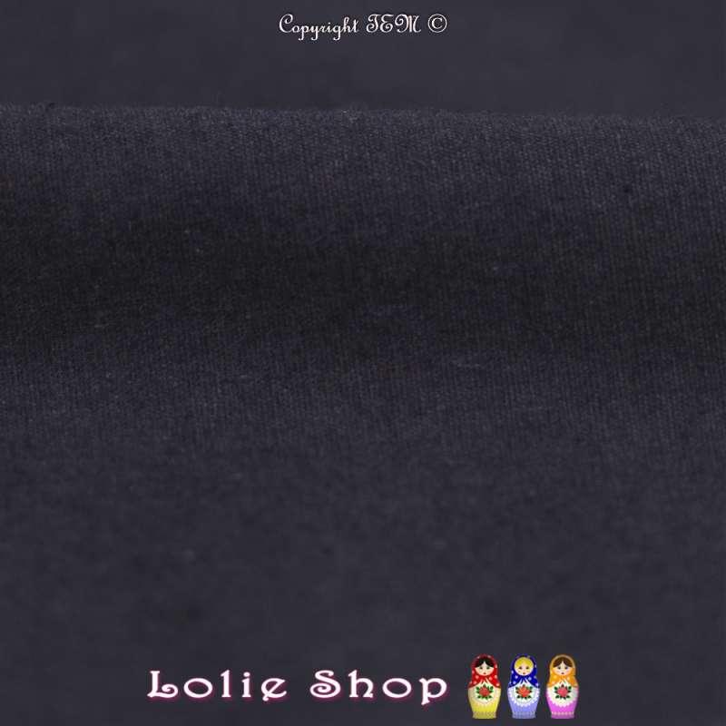 Popeline de Coton Couleur Marine