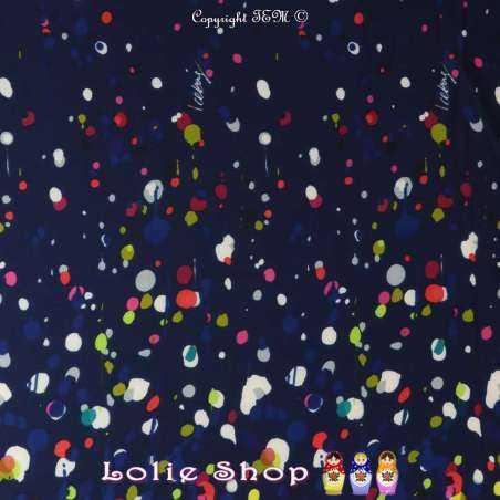 Tissus Toucher soie imprimé Taches Multicolores