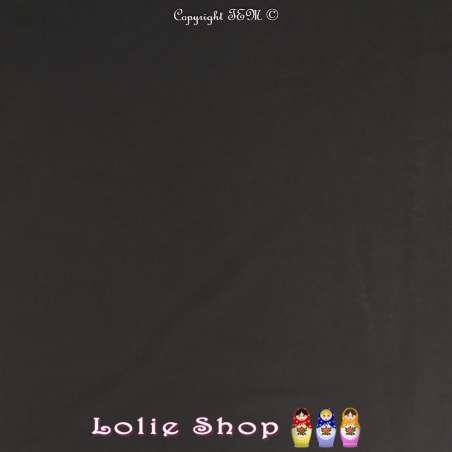 Popeline de Coton Couleur Noir