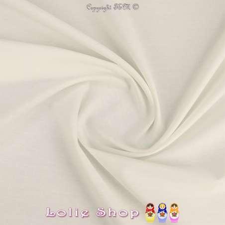 Popeline de Coton Couleur Blanche