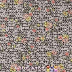 Microfibre élasthanne toucher Soie motif graphique et Fleurs