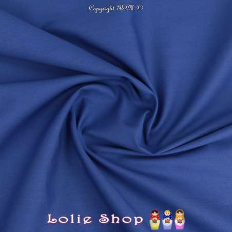 Popeline de Coton Couleur Bleu Roi