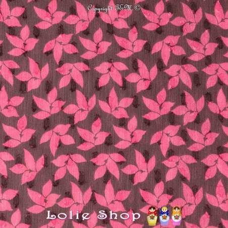 Voile Plumetis Imprimé Fleurs Ton Framboise