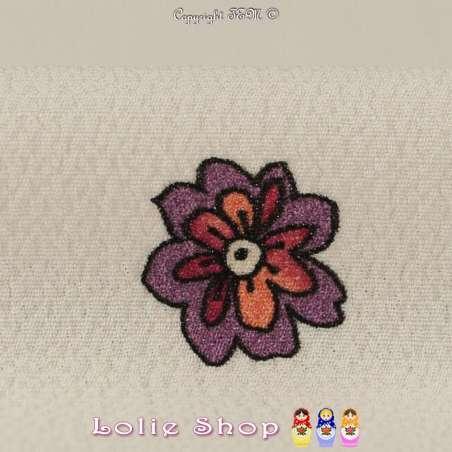 Panneau de 110 Cm Motif Placé en Crêpe Imprimé Fleuris
