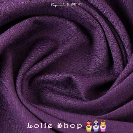 Tissu Maille Jersey Milano Uni Couleur Prune