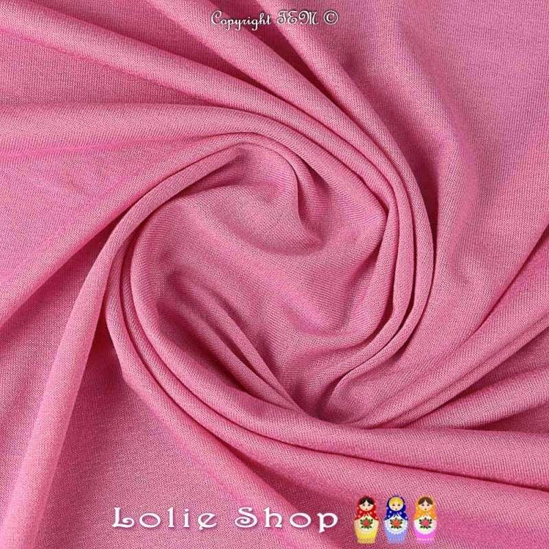 Coupon de 3 mètres à 10 euros de tissus en Jersey Viscose Rose Candy