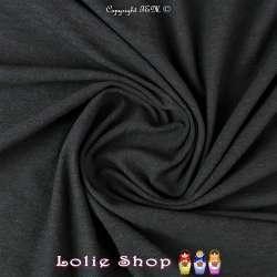 Coupon de 3 mètres à 10 euros de tissus en Jersey Coton Flammé Noir