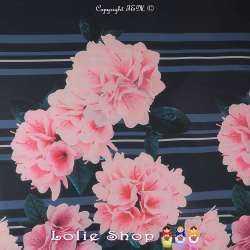 Tissu Crêpe Georgette Polyester Imprimé Motif Floral