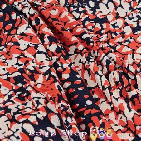 Jersey Cristal KALYSTA Imprimé Gomme Tache Ton Rouge