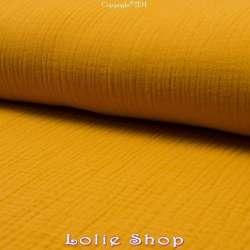 Tissu 100% Coton effet froissé couleur uni