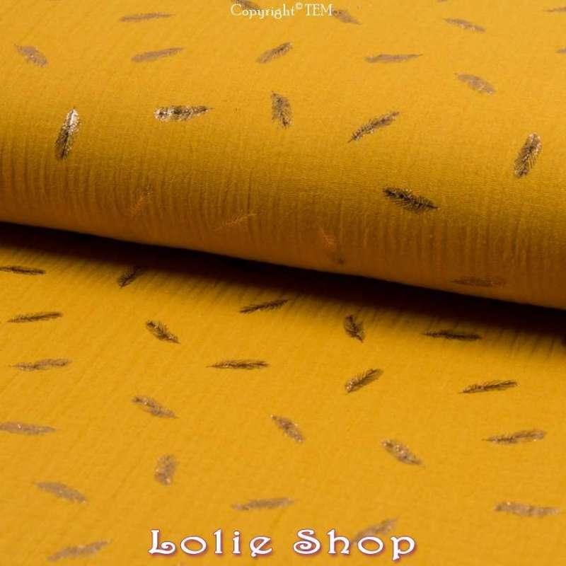 tissu 100%Coton Couleur Ocre