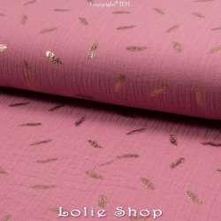tissu 100% coton couleur vieux rose