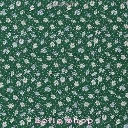 Microfibre Élasthanne Imprimé Petites Fleurs Fond Vert