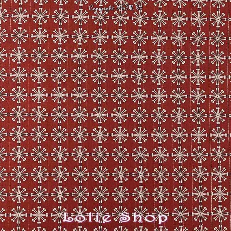 Tissu Woolpeach Microfibre Imprimé Collection 2019 Modèle ISHA - Ton Rouille