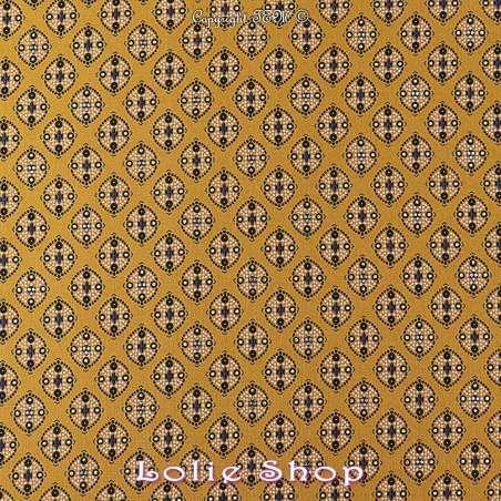 Tissu Woolpeach Microfibre Imprimé Collection aSHA - Ton ocre