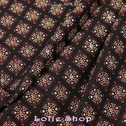 Tissu Woolpeach Microfibre Imprimé Collection aSHA - Ton Noir