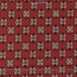 Tissu Woolpeach Microfibre Imprimé Collection aSHA - Ton Bordeaux
