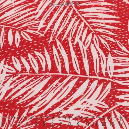 Jersey LAMARTINE Palmier Couleur Rouge