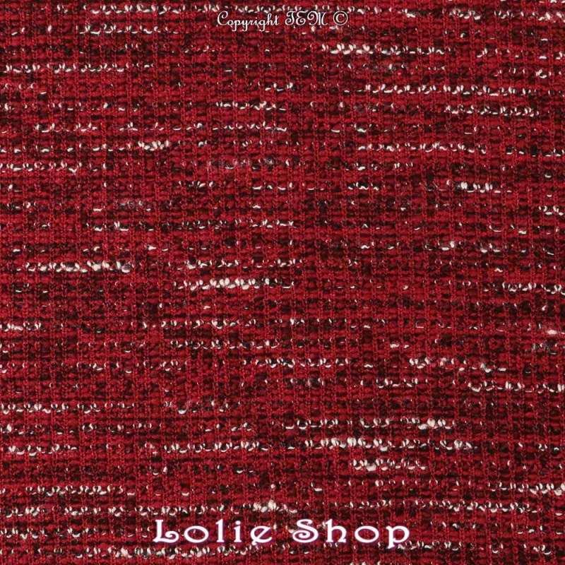 Tissu-Maille Gamme OLIVIA Couleur Rouge