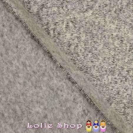 tissu Maille Bloqué Grise Anthracite
