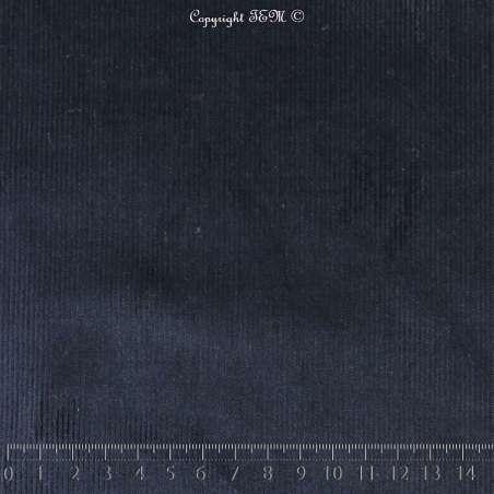 Tissu-Velours Coton - Marine