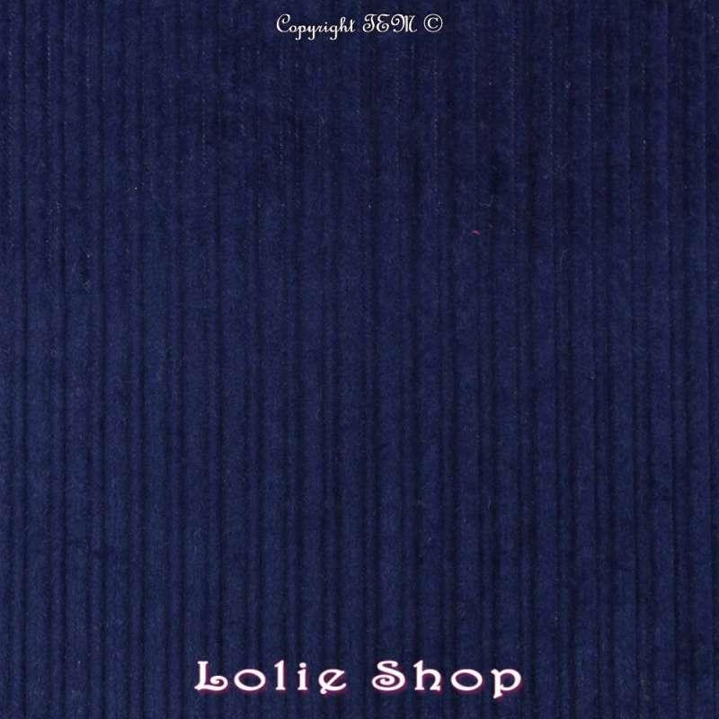Tissu Velours  Coton - Bleu Roi