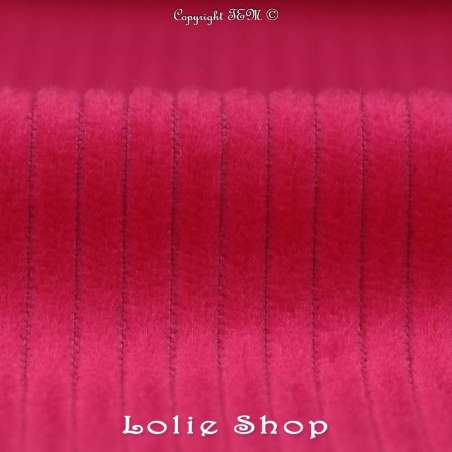 Tissu Velours  Coton - Fushia