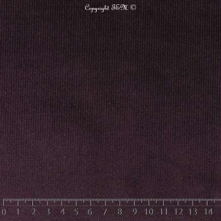Tissus Velours Coton - Prune