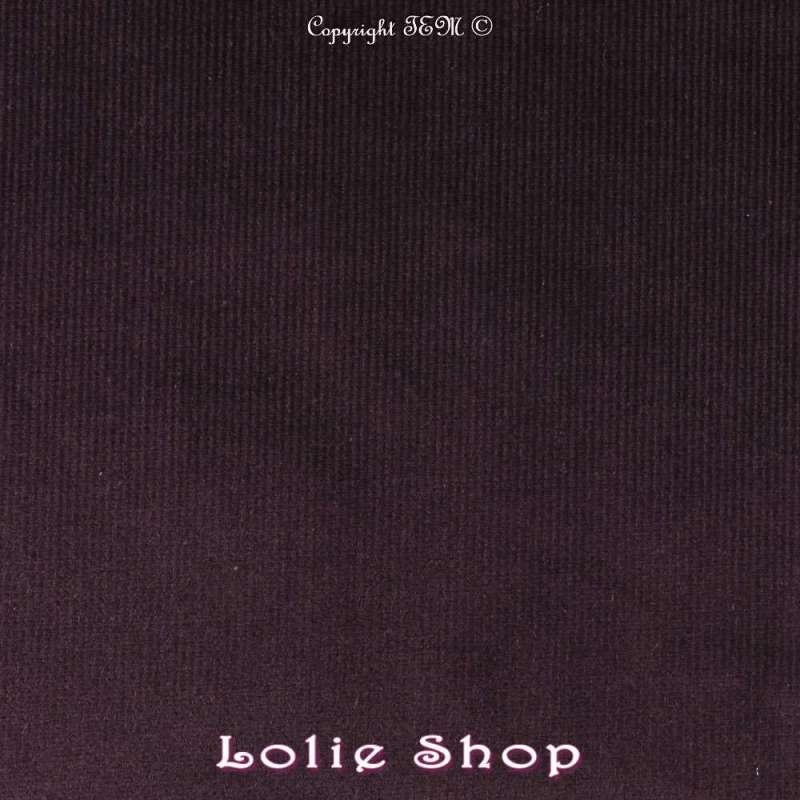Tissu Velours Milleraies Coton - Prune