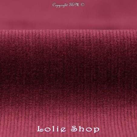 Tissus Velours Milleraies Coton