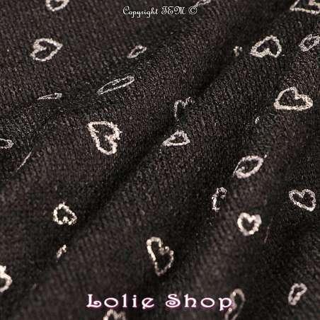 Tricot Maille Métallisé Coeur BLOOM LITE - Noir